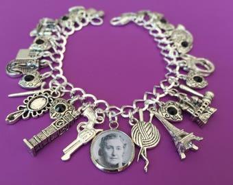 Agatha Christie Charm Bracelet Detective, Poirot, Marple, Mystery