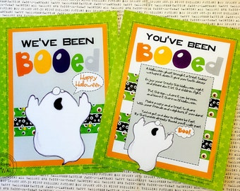 You've been Booed Printable and 8 Halloween Tags & Directions for a Sweet Treat Holder