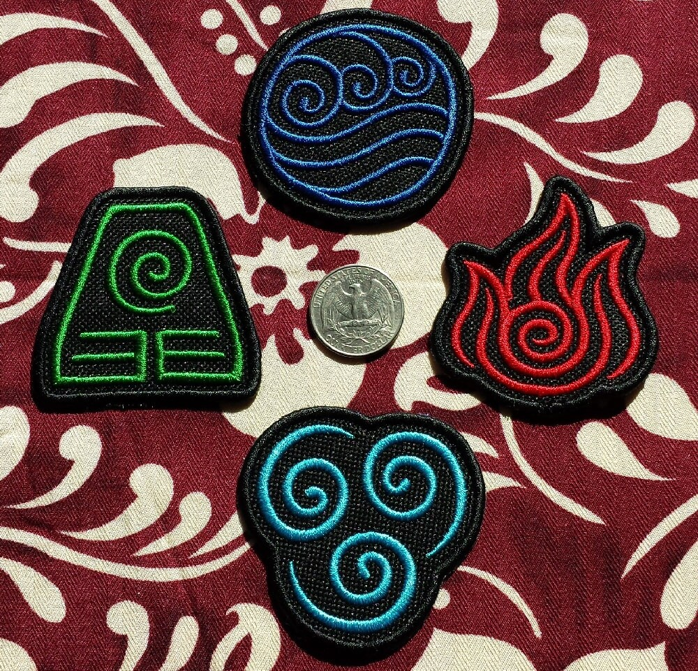 Avatar bender symbol patches iron on patch 24 ish zoom biocorpaavc Image collections