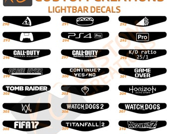 Light bar decal etsy playstation 4 light bar decal x1 ps4 lightbar controller stickers personalised with custom text aloadofball Choice Image