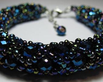 Handcrafted Beaded Bracelet Bangle