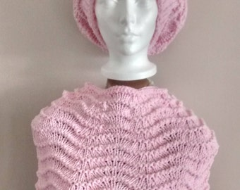 """All Hat style """"slouchy"""" and shoulder warmer"""