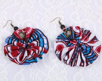 Fan-style Fashion Ankara earrings