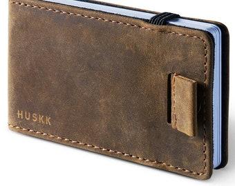 Minimalist Front Pocket Wallet with Elastic Money Clip