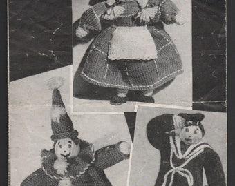 Bestway Cuddly Dolls Knitting Pattern 880, Original 1930s/40s