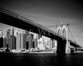 Brooklyn Bridge, New York, 8x10 Black and White Fine Art Print