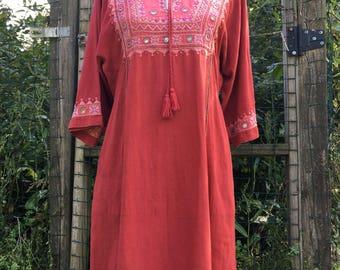 Vintage Dress/ Boho Dress/ Bohemian Dress