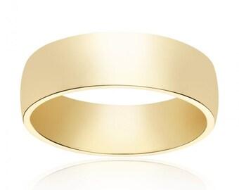 6.0mm 14K Yellow Gold Wedding Band