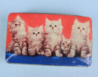 Vintage Cat Candy Tin, Thorne's, England