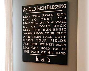 Irish Blessing // wedding gift // anniversary gift // bridal shower gift // painted sign