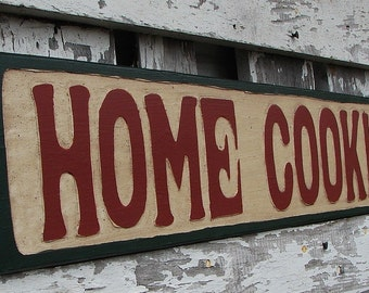 Home Cookin sign