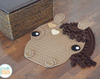 CROCHET PATTERN Chestnut The Loyal Horse Rug PDF Crochet Pattern with Instant Download