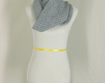 Crochet Cowl, Light Grey Neckwarmer, Head Wrap, Winter Accessory, Gift for Her