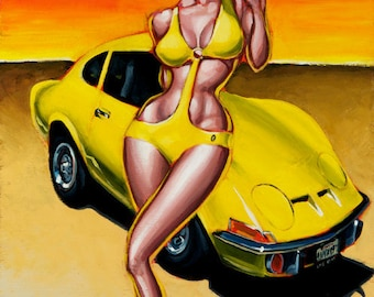 """BigToe's """"Audrey's Opel"""" Limited Edition Art Print"""