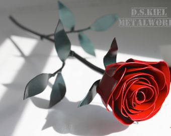 Mother's DayMetal Rose, 11th Anniversary, Steel Anniversary, Steel Flower, 6th Anniversary, 4th Anniversary, Wedding
