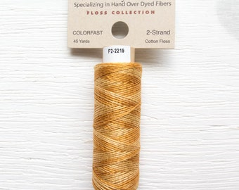 Embroidery Floss | Weeks Dye Works Hand Over-Dyed 2-Strand Embroidery Thread - WHISKEY