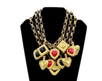 80s Escada Triple Chain Necklace