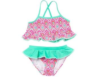 Girls  swimsuit. Kids swimsuit. Girls bathing suit. Monogram bathing suit. Personalized swimsuit.  Beechy Keen. Beachy Keen. Mer-Mazing