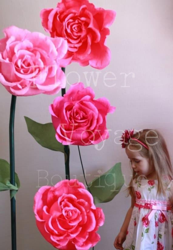 Giant free standing paper flower alice in wonderland photo mightylinksfo