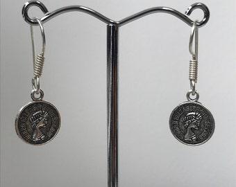 Queen Elizabeth Little Coin Earrings