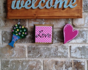 Valentine Ornaments for Welcome Signs