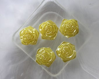 yellow flower cabochon resin scrapbooking