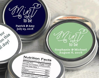 Wedding Favors - Mint Favors - 250 Mint to Be Wedding Favors - Wedding Mints - Personalized Tin Mints - Mint Tins - Wedding Candy Containers