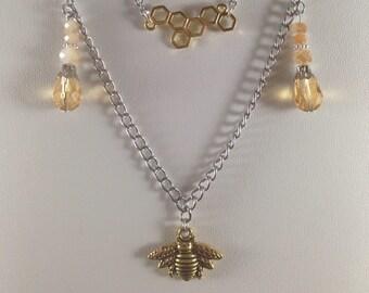 Honeydrip bee necklace