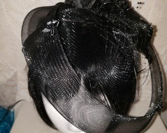 Black Fascinator, Wedding Headpiece, Bridal Headband, Kentucky Derby Fascinator, Hair accessories