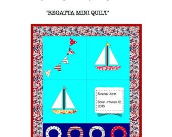 Regatta Mini Quilt Pattern (Printed)