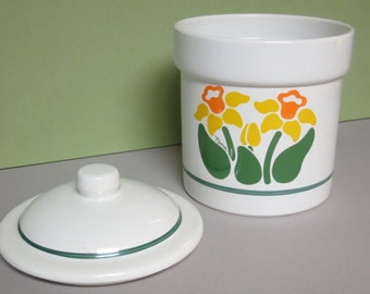 Nina Flower Canister by Treasure Craft USA, Daffodil, Nina Cannister