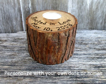 Rooted in Love Anniversary Candle with Free Inscription