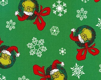 Dr. Seuss How The Grinch Stole Christmas 7 , The Grinch Wreaths on Green, yard