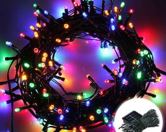 200 LEDs Multi-Color 72ft. Waterproof Lights Solar Powered Outdoor String Lights ------ Multi-Color ------ USA Seller ------ Fast Shipping