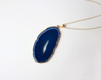 Agate Wave Necklace - 14k Gold Filled