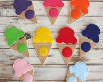 Color Match Game - Learning Colors - Felt Toys - Toddler - Kids - Preschool - Educational Toy - Homeschool