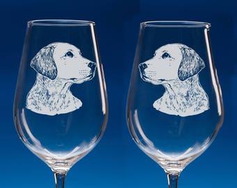 Set of 2 Labrador Retriever Wine Glasses, Dog Lover Gift, Engraved Labrador Gift for Dog Lovers, Labrador Dog Gift, Gift for Couple