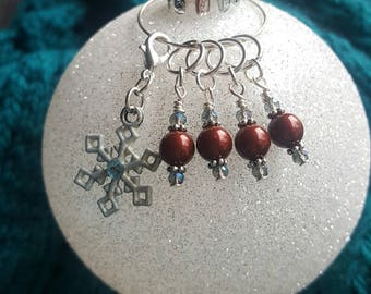 Winter Wonderland Progress Keeper and Stitch Marker Set #2