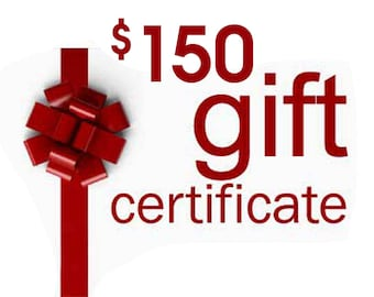 Gift Certificate, Anything Photos Custom Personalized Artwork, Gift Card, 150 dollar value