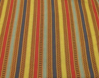 """Laura Kiran Southwest Stripes Aztec Multi heavy canvas-like decor fabric sent as pillow size cuts, 18 or 26"""" sq, or as a sewn cover"""