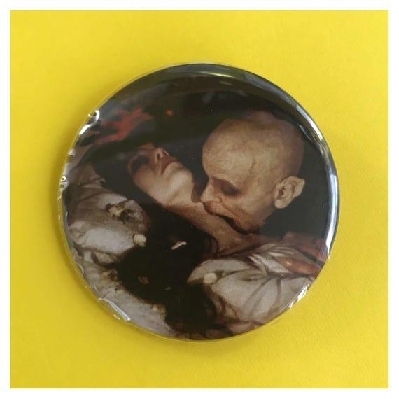 "2.25"" Pinback Button - Nosferatu Vampire Death Large Pinback Button Badge - Horror Film Button/Pin Goth Vampire Romantic Spooky"