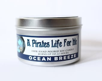 A Pirate's Life for Me | 8 oz  Ocean Breeze Candle
