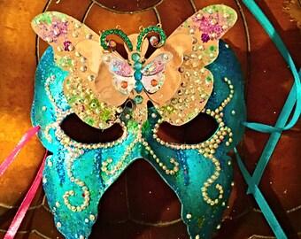 Masquerade mask. Fairy mask, butterfly mask, festival mask, Mardi Gras mask, role playing mask, party mask, costume mask, halloween mask