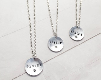 Sister Necklace for 3, Set of 3 Friendship Pendants, Sorority Gift, Sororities present idea, Birthday, 3 sisters, girls trip gift jewelry