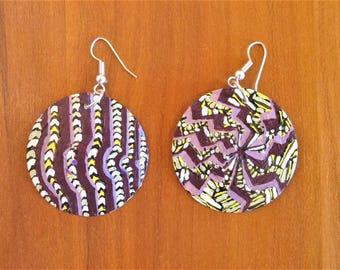 African Earrings- West African pattern