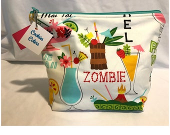 Medium Project Bag - Tropical Drinks