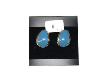 Vintage Royal Blue Earrings, Blue Stud Earrings, Stud Earrings, Statement Earrings
