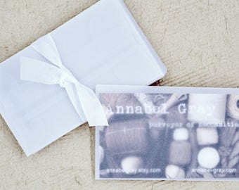 Mini Translucent Envelopes (25) * 2 1/4 x 3 3/4 * mini envelopes * business cards * scrap booking * arts and crafts