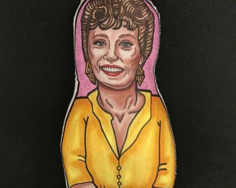 Blanche Devereaux Golden Girls Inspired Plush Doll or Ornament