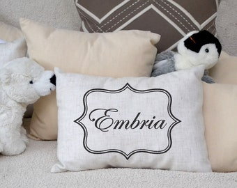 Personalized Children's pillow, baby boy newborn gift, baby name, kids gift, baby boys & girls pillow,